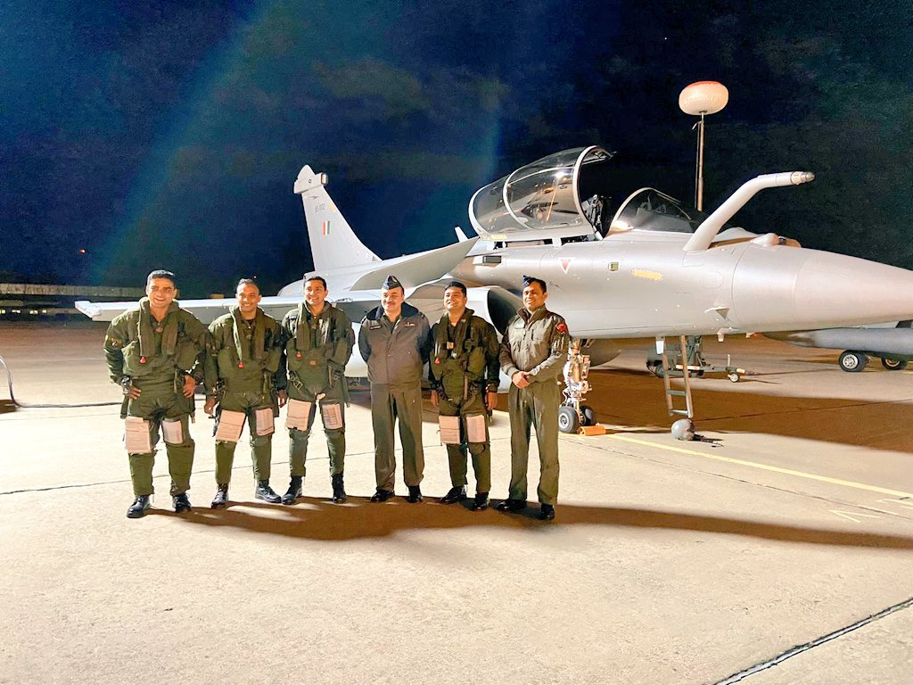 3 Rafale Jets arrive at Jamnagar airbase after non-stop flying from France