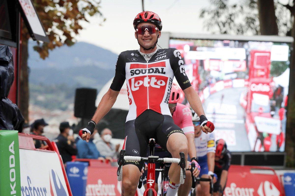 Wow! Victoire numéro✌️pour @Tim_Wellens sur @lavuelta! 🤩🙌#proudsponsor #bienplusquejouer #loterienationaleloterij #LaVuelta2020 https://t.co/RDBzQk44CQ