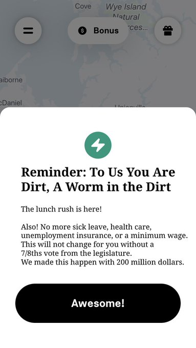 thank you @Postmates for your honesty! #Prop22 https://t.co/2219EIWQYk