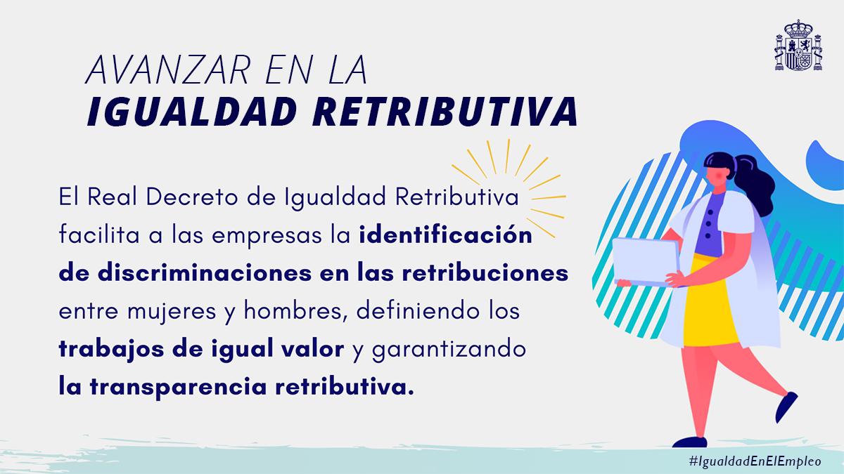 Twitter La Moncloa. ♀️Avanzar hacia la #IgualdadEnElEmpleo ...: abre ventana nueva