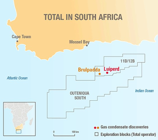 Great news from our neighbours Total in their block 11B/12B in South Africa's Outeniqua basin - the Luiperd discovery