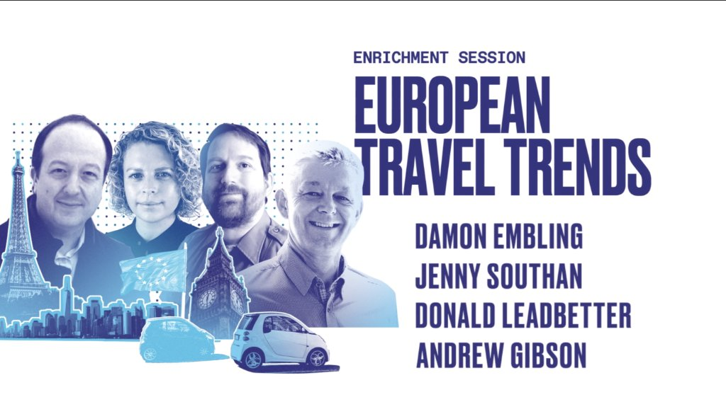 It's Brand USA Travel Week Europe 2020 Day 3! We're excited about our 2nd enrichment session: European Travel Trends with @euronews' Damon Embling, @WTATourism's Andrew Gibson, @NatlParkService's Donald Leadbetter & @globetrender's Jenny Southan. #BrandUSAGlobalMarketplace https://t.co/GUKFEceXfT