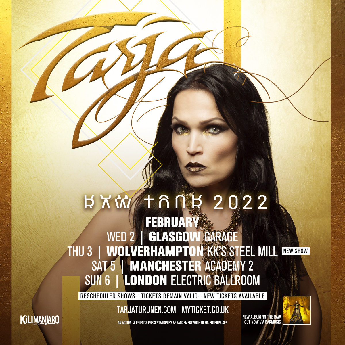 .@tarjaofficial rescheduled dates will take place in February 2022 + NEW SHOW added in #Wolverhampton! Remaining #GigTickets on sale now: https://t.co/CcCOVmBYFM https://t.co/W21oqTbocl