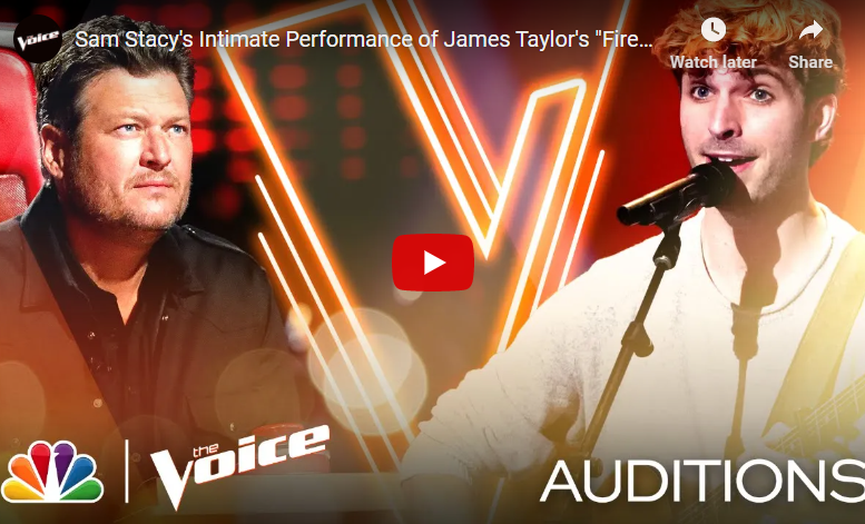 """Watch Lincoln Southeast grad Sam Stacy snag a spot on """"The Voice"""" Team Blake with some """"Fire and Rain."""""""