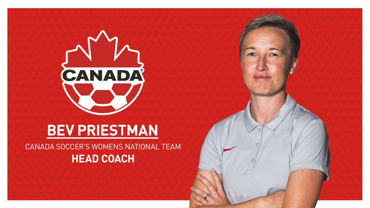 Bev Priestman named Head Coach of Canada Soccer's Women's National Team  STORY 🍁 https://t.co/08O0t4A8Mc  #CANWNT https://t.co/WGfkMAaErg