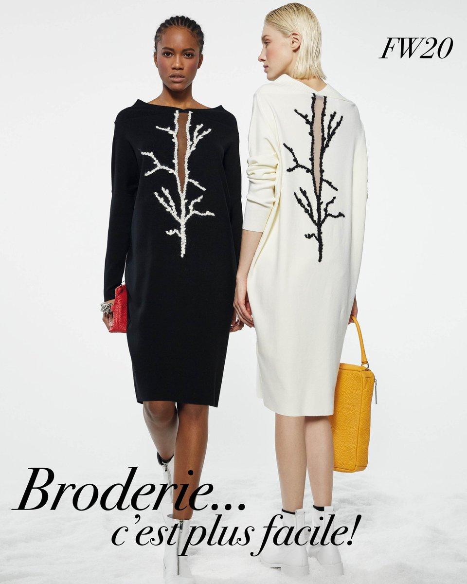 FW20 – BRODERIE … C'EST PLUS FACILE https://t.co/HoPfdk5rHe #heritage #arte #ricamo #knitwear #Oblique #Creations #femminile #eleganza #bellezza #silhouette #skirt https://t.co/UMAd4rxLtU