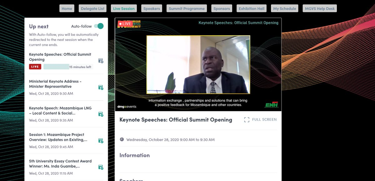The Mozambique Gas Virtual Summit in partnership with Empresa Nacional de Hidrocarbonetos EP (#ENH) is Officially Live!  Opening the Virtual Summit for us this year is Chairman and CEO of ENH, Estêvão Pale.  #MGSVirtual #Mozambique #AfricaEnergySeries #dmgevents https://t.co/5HHEHgJWTT