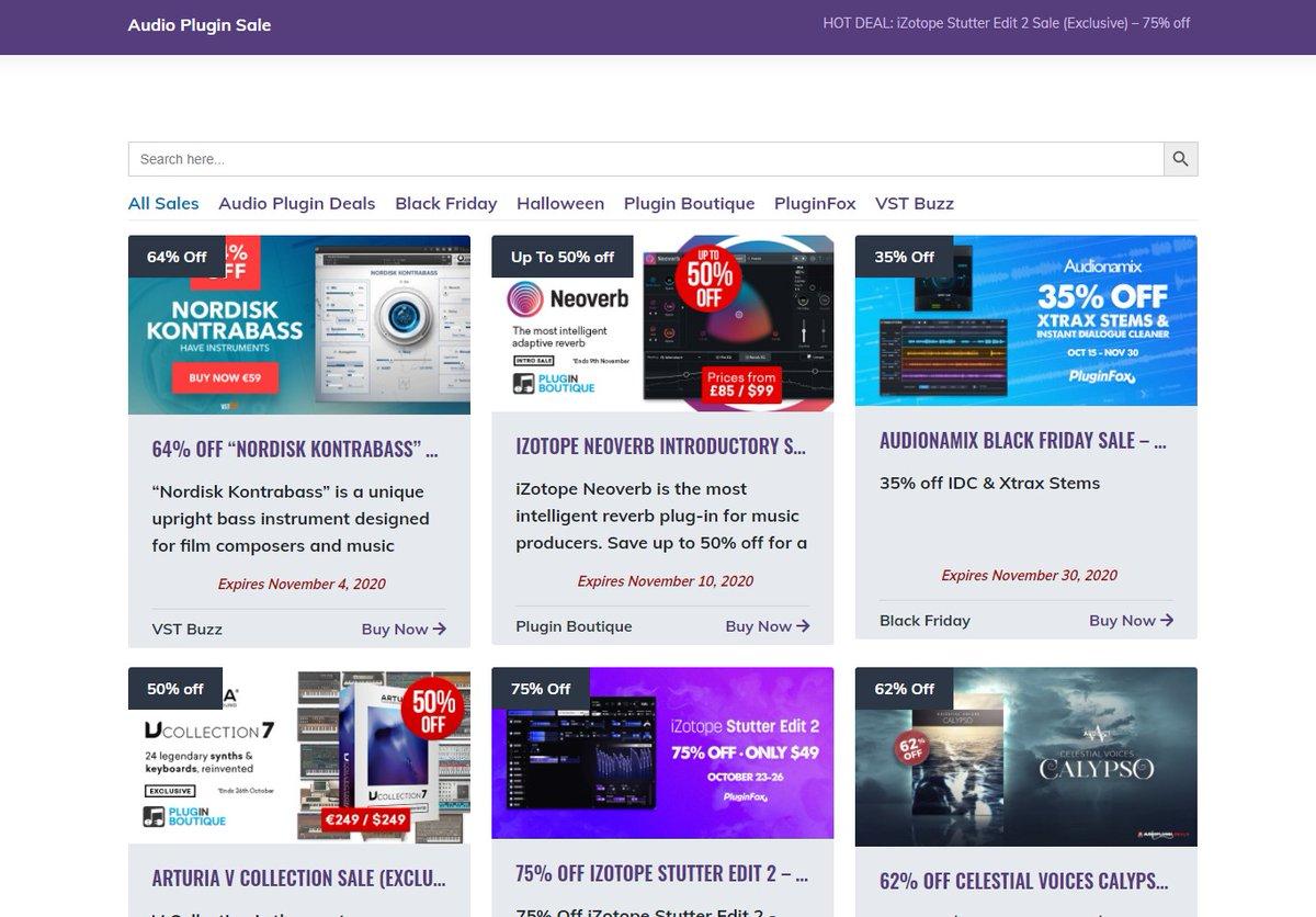 New design, more sales! 🚀  https://t.co/Wn5FwP3kyG  #plugindeals #pluginsales #ableton #beatmaking #mastering #mixing #producer #studio https://t.co/1HxAjHRogZ