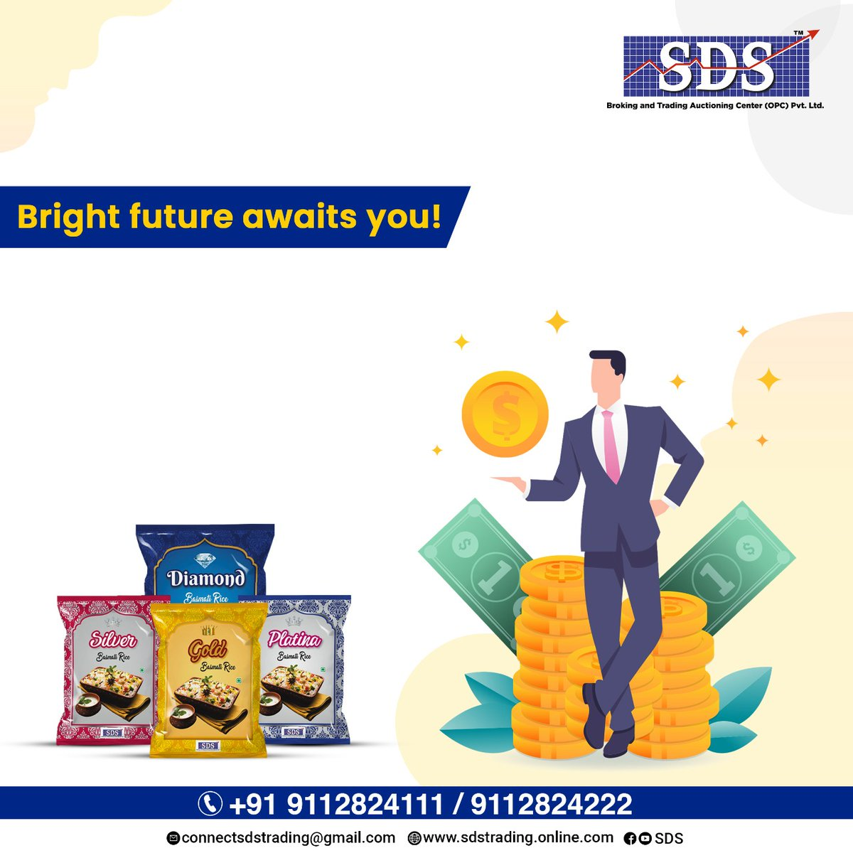 SDS brings you the perfect opportunity to overcome your financial problems. You can trade online with SDS and gain profit. #ricetrading #rice #broking #patency #onlinetrading #SDS #traders  #trading #tradingcards https://t.co/OCjYH29RQB