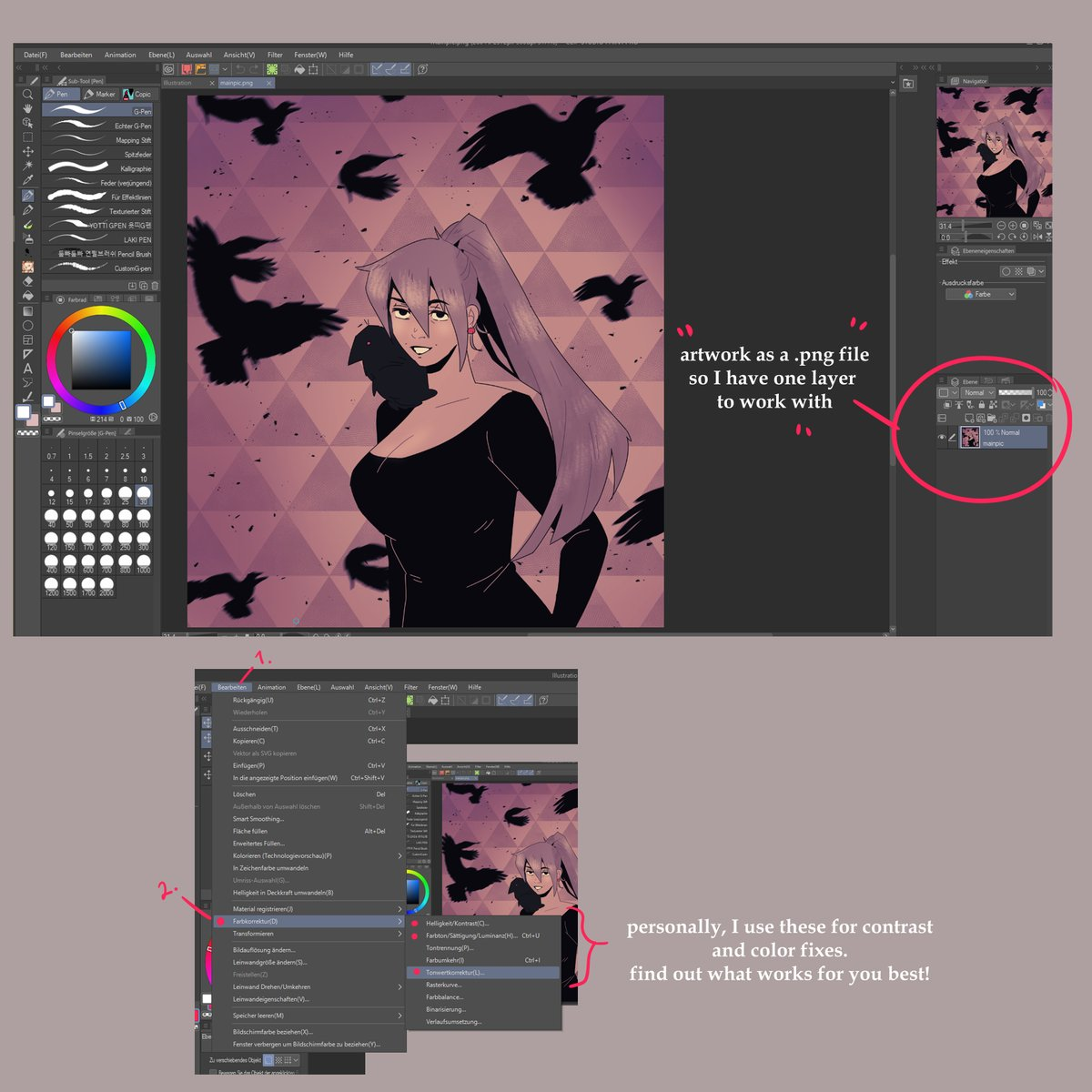 made a quick tutorial on how I use gaussian blur and glow  to give my sketches a dreamy finish✨  #CLIPSTUDIOPAINT #tutorial https://t.co/HMIdmtGezz