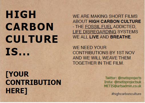 High Carbon Culture is the idea that humans can master nature #highcarbonculture #ClimateAction#SeasonForChange2020 #ClimateJustice #ClimateCrisis #ClimateChange #PerformanceArt #VisualArt #ClimateDiscussion https://t.co/Gk3EixDikt