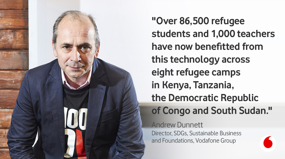 Since 2013, @VodafoneFdn has partnered with @Refugees, the @UNRefugeeAgency, to enhance the quality of education for children growing up in refugee camps where as many as 3.7 million are out of school. Find out more:  #EuropeConnected