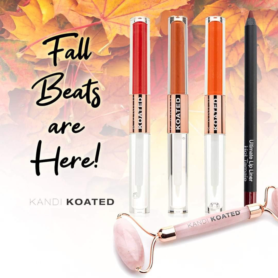 Check out our new Fall Beats! These bundles are perfect for the autumn season with colors you'll #FALL in #love with! 🍂🍁💖 Shop now at https://t.co/0tKAzf1MBv  #kandikoated #KandiBurruss #makeuplover #makeup #bold #lips #makeup #kandikoatedcosmetics #beauty #October #beat https://t.co/6eaWyfFnPP