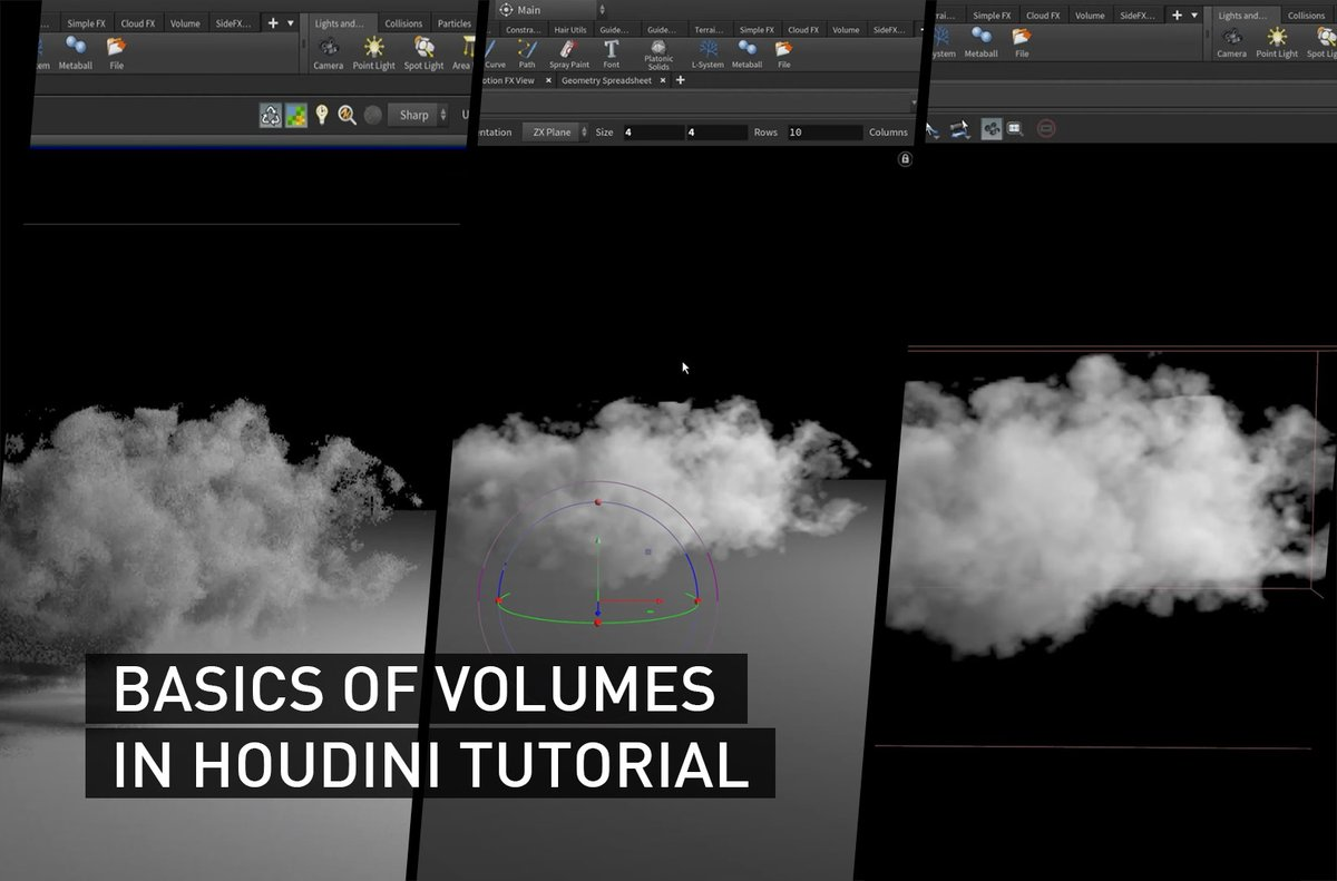 🤩 Let's learn how to use Volumes and create clouds with VOPs in Houdini tutorial by @AriseWorks!  ➡️https://t.co/MieA1Xkk8V @sidefx #houdini #tutorial https://t.co/QS0w6T1cmt