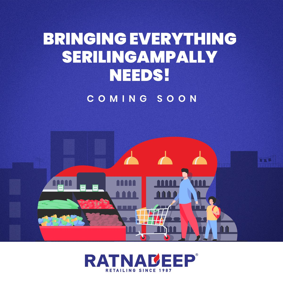 We're delighted to bring you the Ratnadeep experience that countless families have loved. Stay tuned for more updates.  #Ratnadeep #RatnadeepSupermarket #FamilySupermarket #DailyNeeds #GroceryStore #Freshness #Delighted #NewStore #ComingSoon #StayTuned #Serilingampally #Hyderabad https://t.co/DPbkI3WvnK