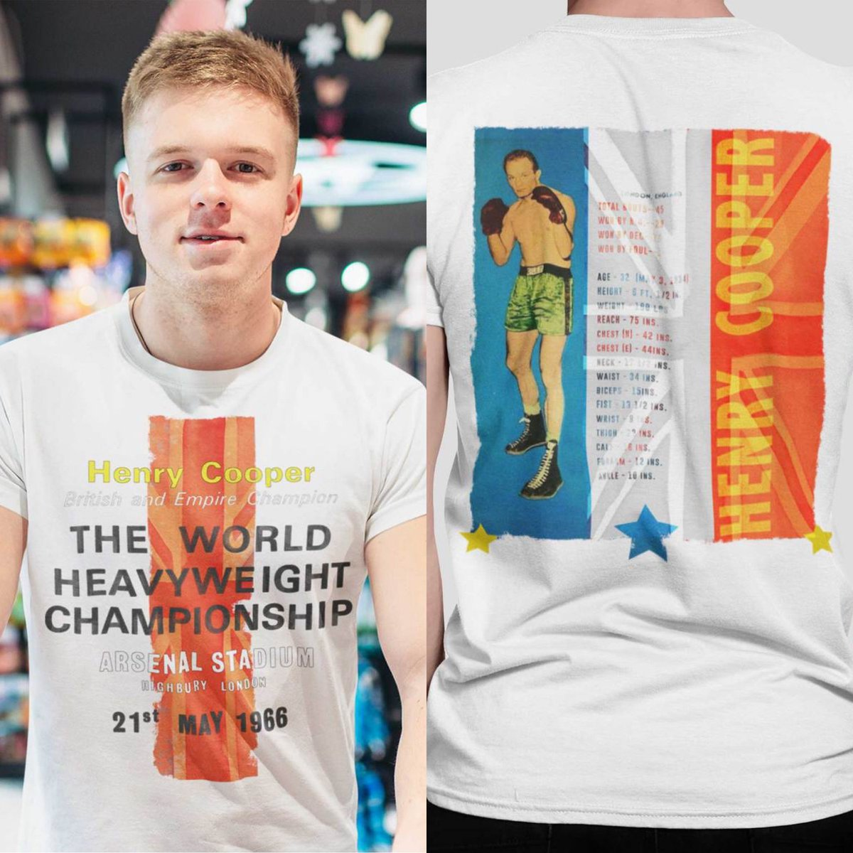 "🥊 Available now 🥊 Henry Cooper The World Heavyweight Championship Graphic White Tee-   Check out Henry's merch range on our ""icons only"" tab   https://t.co/tXm4Vhnkt1 🥊  #boxing #vintage #merch #iconsonly #wednesdaymorning https://t.co/xBYzuRCIja"