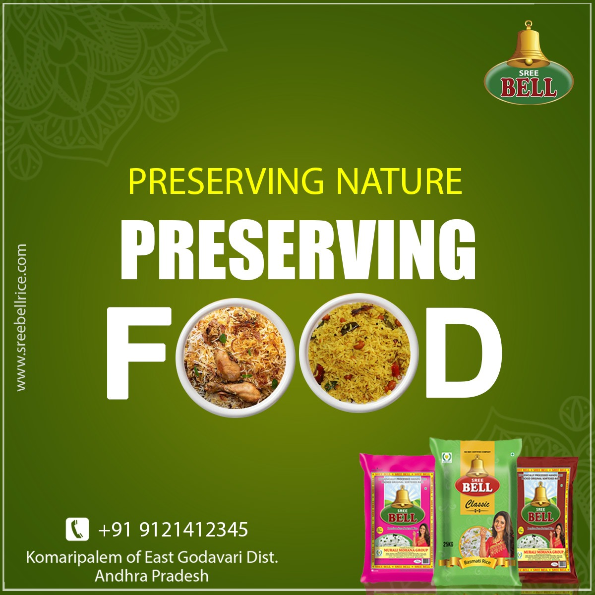 Preserving Nature, Preserving Food. Contact Us: 9121412345 Visit Us: https://t.co/bq5iElv5xG INSTAGRAM: https://t.co/ox2Ezzp9hh TWITTER: https://t.co/yhmT0Hbmqh #bellfresh #foodies #sribellrice #franchise #rice #indianfood #bell #brand #foodfreaks #alloverindia #healthylifestyle https://t.co/uJxA1dIG7a