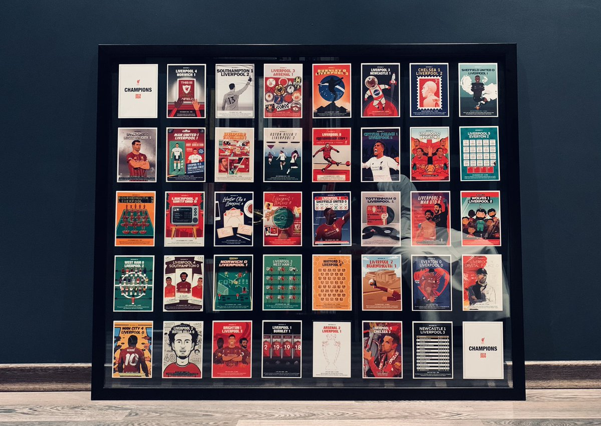 @al_ghanim has framed his LFC Postcard collection using a double sided glass and it's absolutely brilliant...