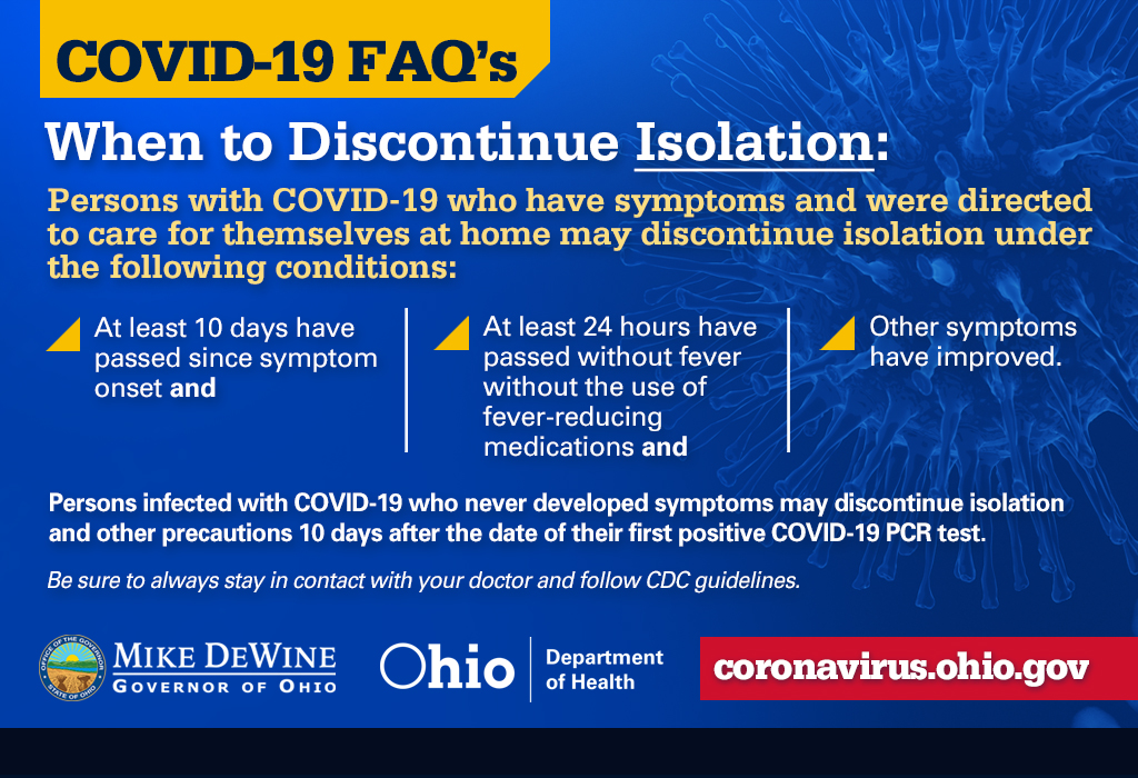 #COVID19: When to discontinue isolation. https://t.co/vg4tN6d7vM #InThisTogetherOhio https://t.co/VF4RPHutxO
