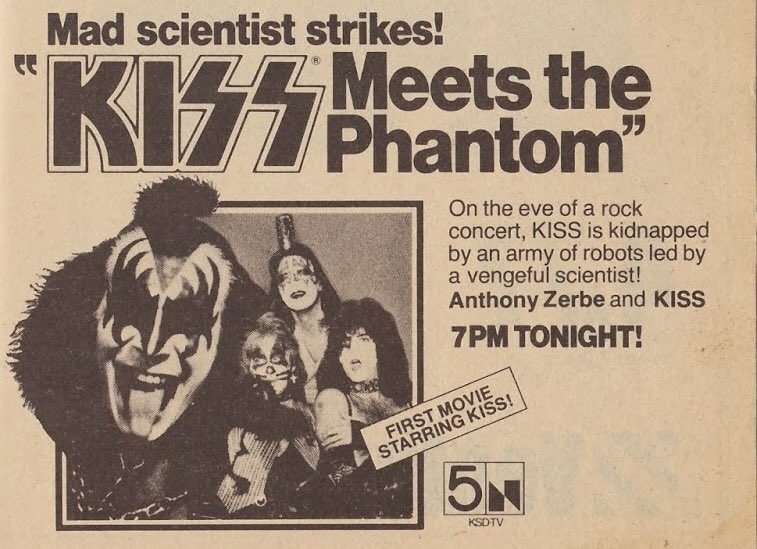 """On This Day: """"KISS Meets the Phantom"""" aired on NBC on October 28, 1978. @kiss @PaulStanleyLive @genesimmons #KISS #Halloween https://t.co/WpyH7uKMaK"""