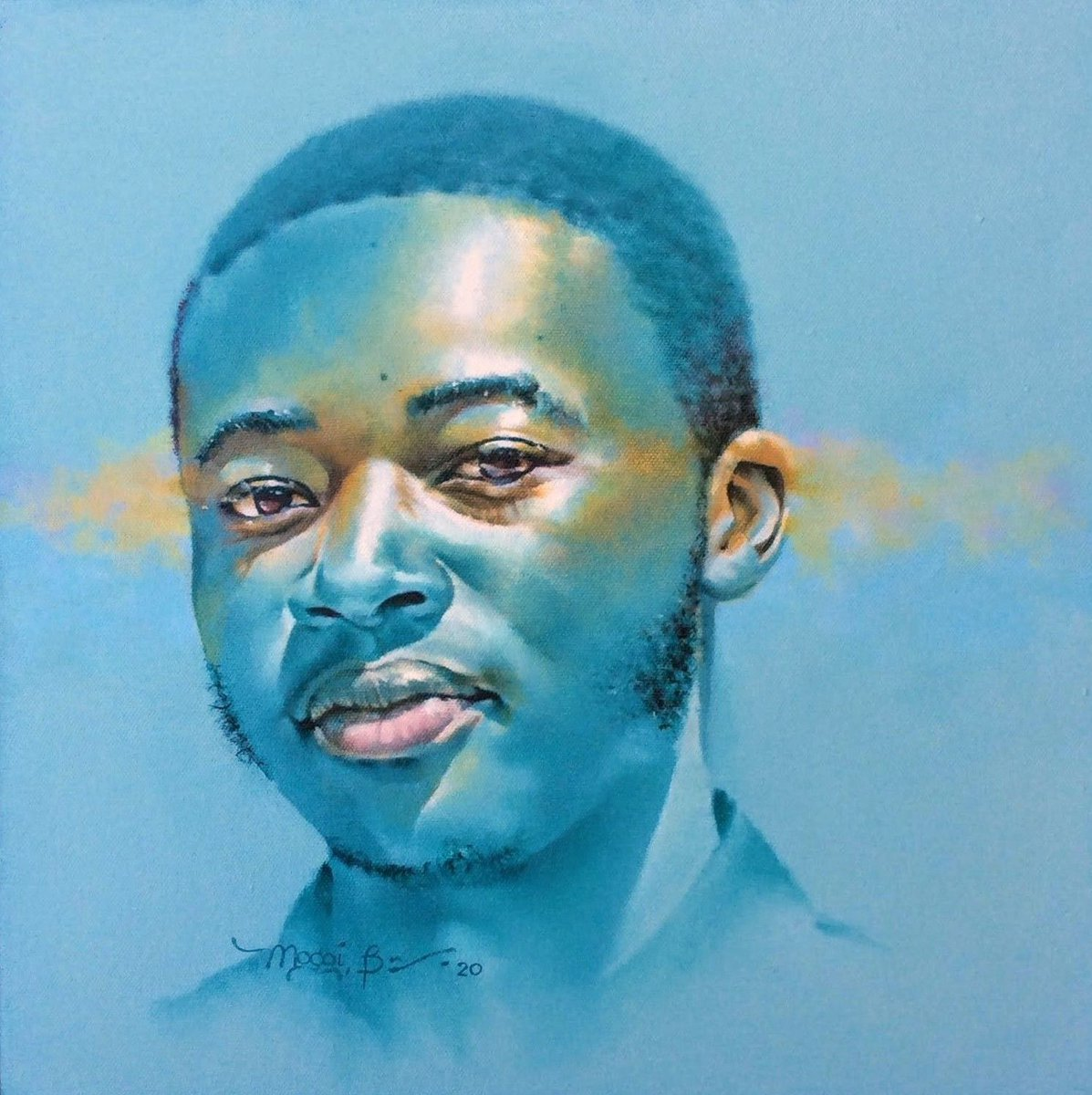 Still waiting for my beards to connect 😆  Asante sana @brian_mogoi for sharing your amazing gift through this painting 🙏🏿 Check out more of his work on IG https://t.co/t6SguBP53g   #kenyanart #artlover #oilpaintings #oiloncanvas #portrait #kenyanartist #buykenyan #brianmogoi https://t.co/cPGPtTryub