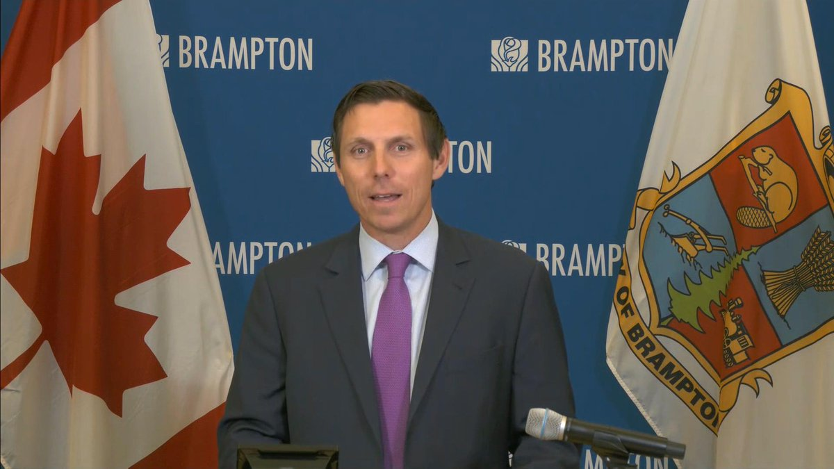 WATCH LIVE: Brampton, Ontario, Mayor Patrick Brown provides an update on COVID-19 cases and measures in the region :https://t.co/vtBK7mmLRk https://t.co/XqFvMjvQdB
