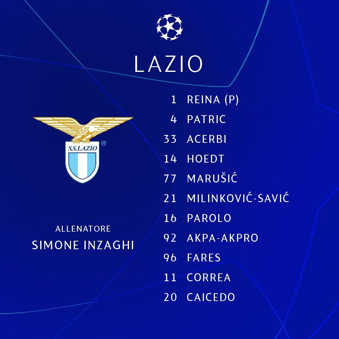 La formazione ufficiale della Lazio 🔵 Il protagonista stasera sarà _________ ✍️  SEGUI Club Brugge-Lazio con il nostro LIVE ➡️ https://t.co/7bmLwAZegd  #UCL | @OfficialSSLazio https://t.co/H8DaUyD8nr