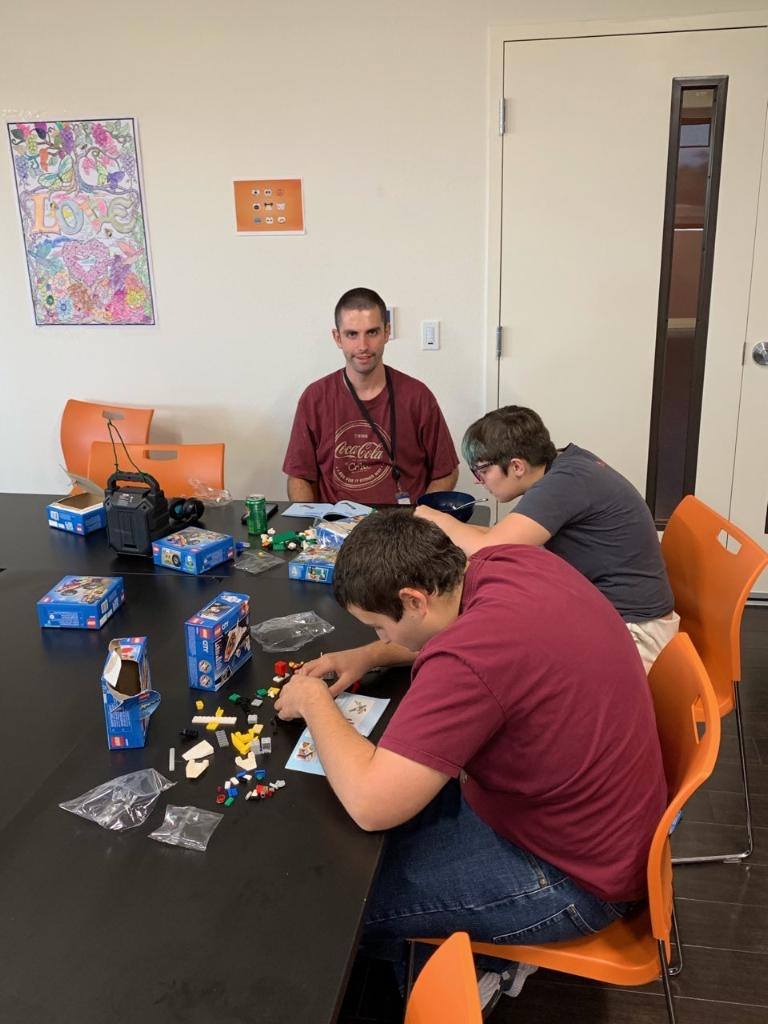 Men's group loves getting together to build Legos and bond!   #TreasureHouse #Friendship #Activities #DifferentlyAbled #Community #Inclusion #IDD #QualityTime https://t.co/DuFyE6ecGm