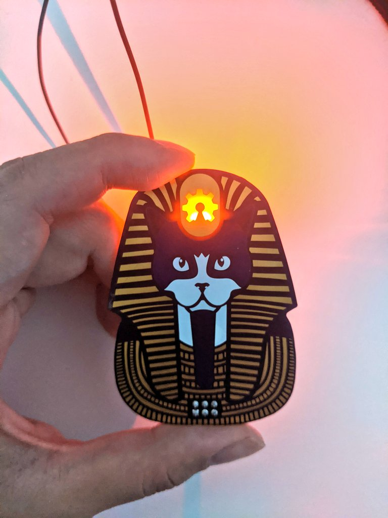 🎃✨Spoopy OSHCATS with green and orange LEDs 😻✨ @oshpark @mrtwinkletwink
