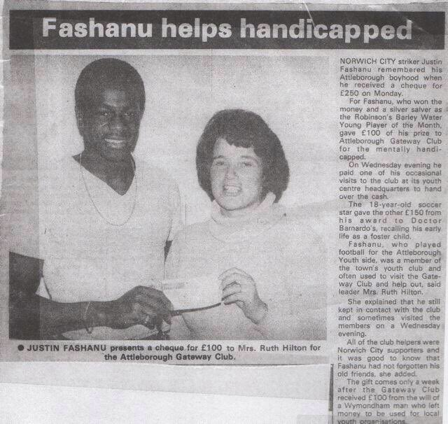 Plans for a Justin Fashanu statue in Norwich are being made & fundraising will begin soon; get ready to donate! The sculpture will celebrate him as an #LGBT+ sporting icon, as a magical #NCFC player, but also as an active member of the Norfolk community. #BHM #JustinFashanu 💛💚 https://t.co/kKk8kaLSEg