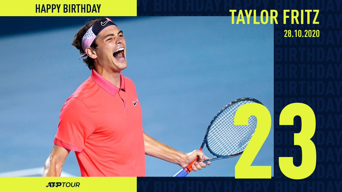 That feeling when it's your big day 😃  Wishing a very Happy Birthday to 🇺🇸 @Taylor_Fritz97! 🎊 https://t.co/ttNrPRqXmw