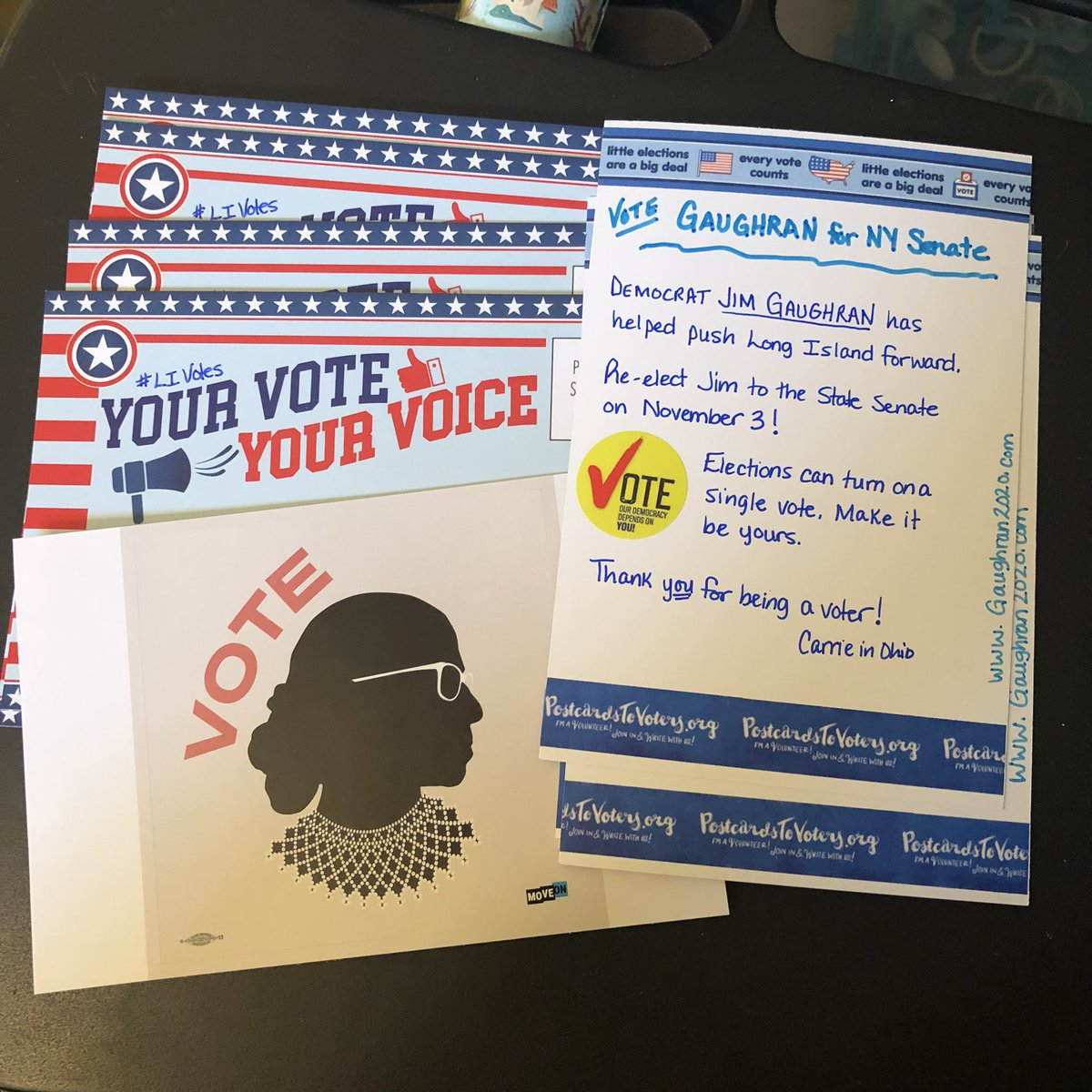 My last #PostcardsToVoters for this election are on the way to NY! Re-elect @Gaughran4Senate #LIVotes