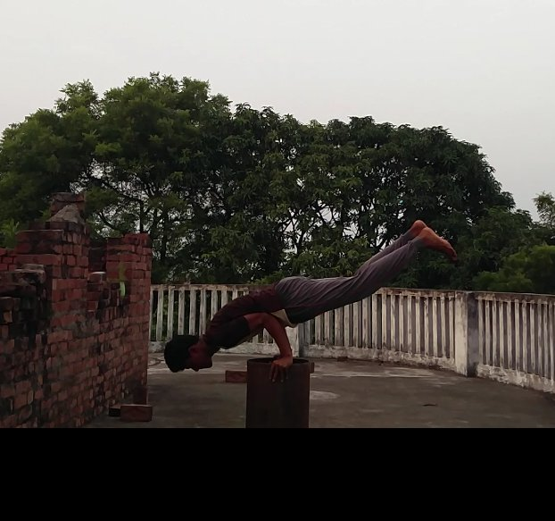 Inspired by @VidyutJammwal sir #kalaripayattu says: we are not mean to be perfect, we are mean to be whole that...That's where the blance is. #ITrainLikeVidyutJammwal  #jammwalions @abbassayyed771  Peacock pose(mayurasana) Sir can I also get t shirt it will motivate me more🙏🙏❤ https://t.co/DTDrfiWj9F