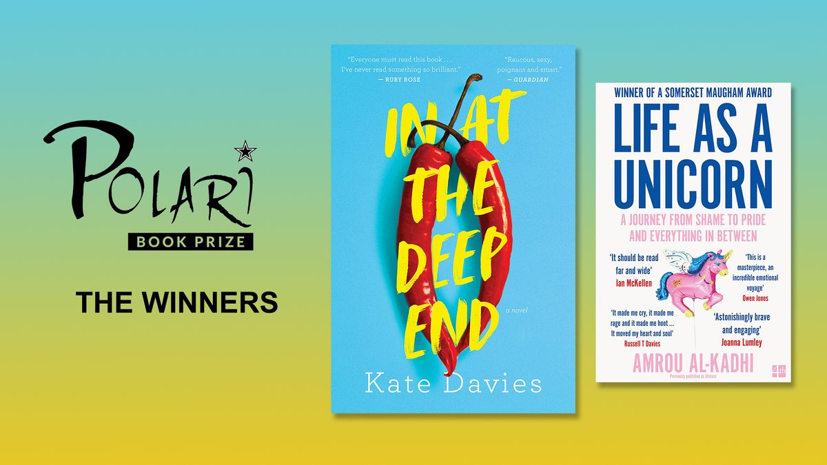Two wonderfully entertaining and thoroughly unforgettable books exploring the LGBTQ+ experience: Discover this years @PolariPrize winners, @Katyemdaviess In at the Deep End and @Glamrous Life as a Unicorn, here: waterstones.com/category/cultu…