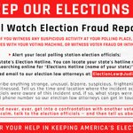 Image for the Tweet beginning: Help Keep Our #Elections Honest!