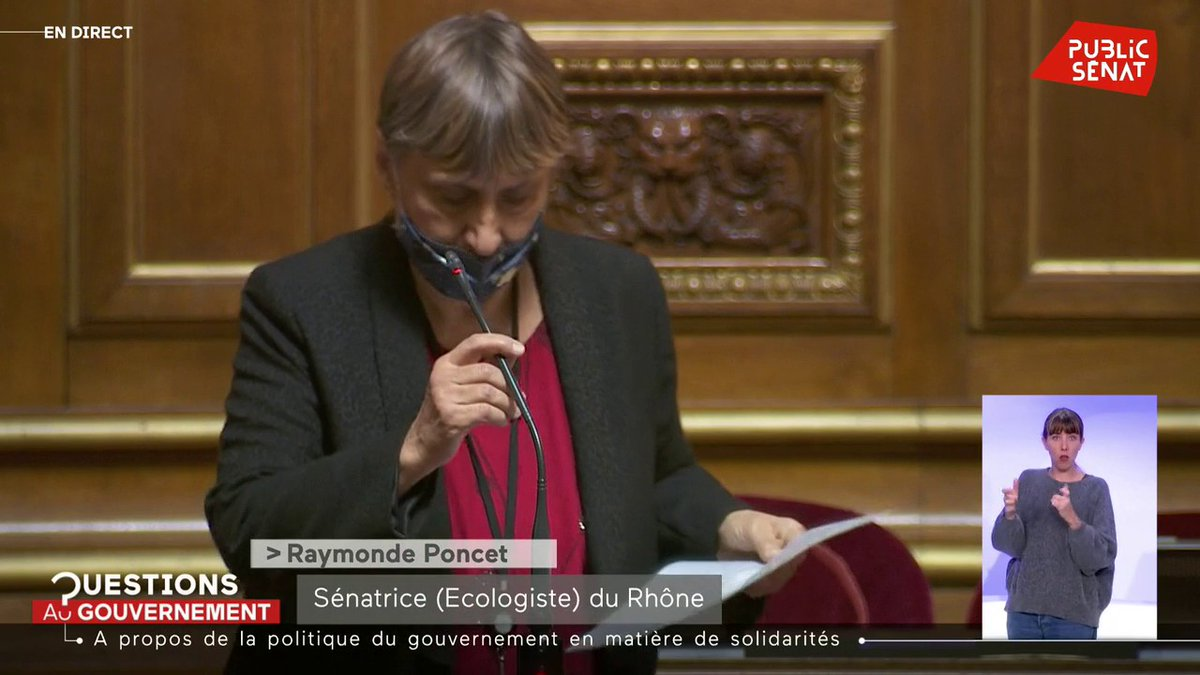 "Image for the Tweet beginning: Raymonde Poncet (Ecologie): ""Nous demandons"