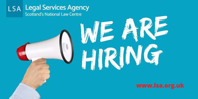 ‼️ JOIN OUR TEAM ‼️ LSA are #Recruiting - we are looking for two #solicitors to join our #mentalhealth and #employment law teams - see our exciting #opportunities here https://t.co/kMaKqywOEg #job #jobsearch #JobVacancy #solicitor https://t.co/qEyBI5epr0