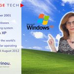 Image for the Tweet beginning: #VintageTech 25th October 2001 @Microsoft releases