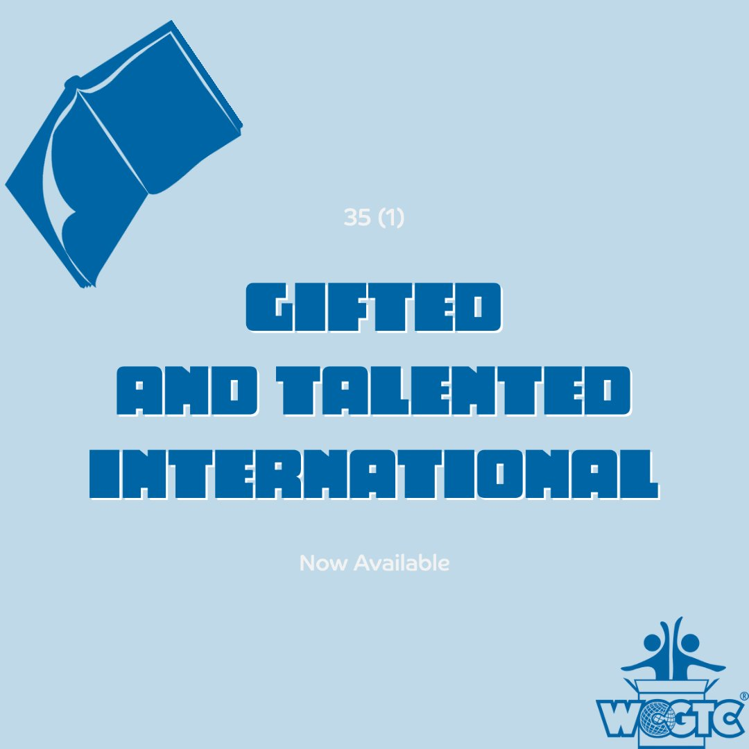 Gifted and Talented International 35(1) is now available online at https://t.co/YznSVLtVkT.  #WCGTC members will be receiving a copy in the mail soon. Until then, members may read the articles by logging in at https://t.co/UpLcqSm4cr  #gtchat #edchat #gifted #gifteded https://t.co/9k6lGG1ZP3