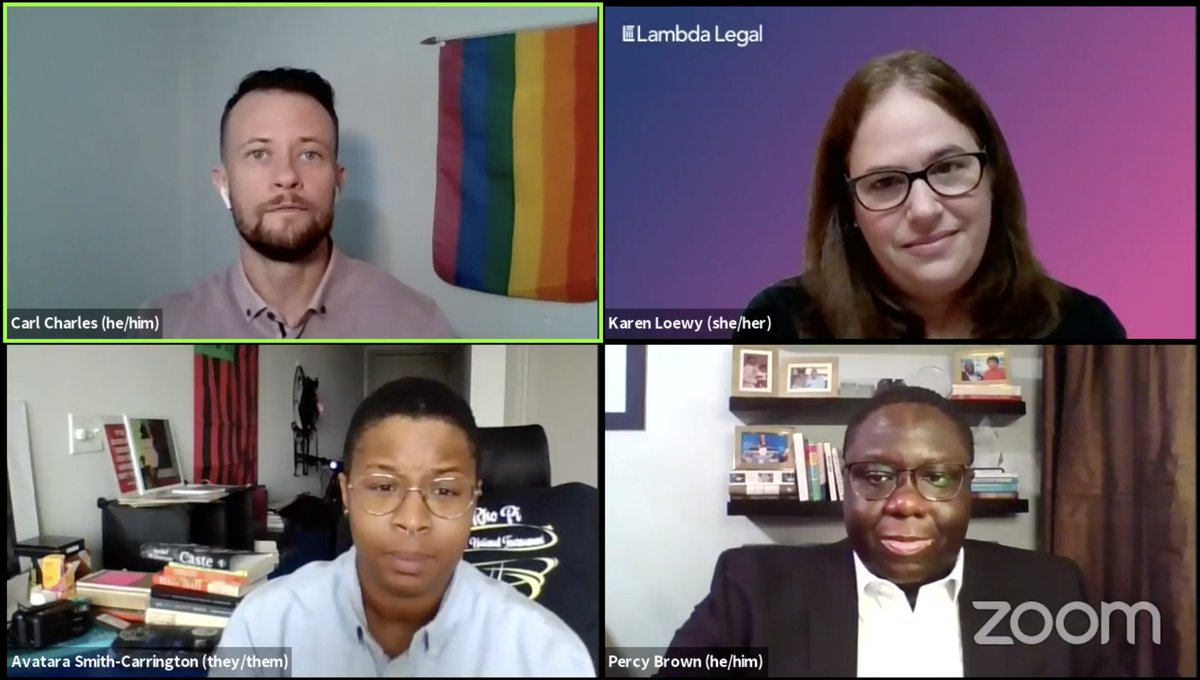 🔴 LIVE NOW! Catch @oh_rarl @KarenLLoewy @AvataraSmithC @PBrownX3 on Facebook answering questions about voting rights for #LGBTQ people and the upcoming Supreme Court arguments. ➡️ facebook.com/lambdalegal/vi…