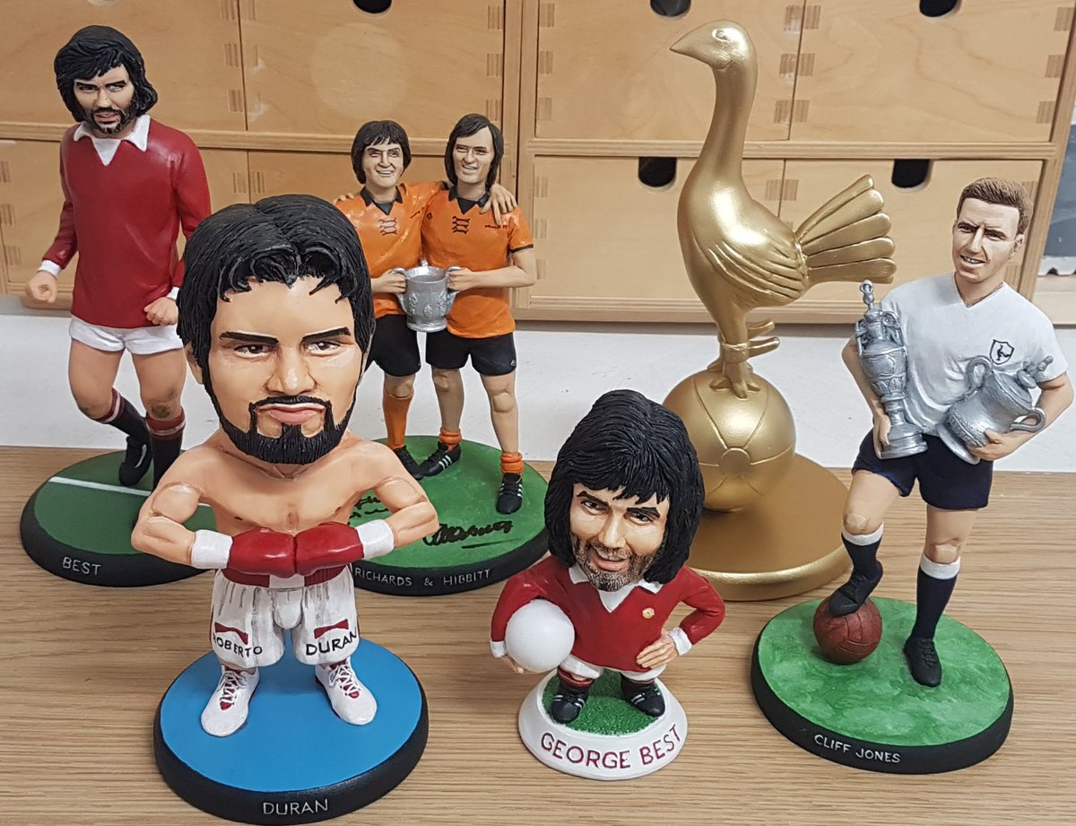Current hand-made sculptures ready fot posting in the Mizog studio #georgebest #ManUtd #manunited #RobertoDuran #wolverhampton #boxing #tottenhamhotspur #Spurs https://t.co/MnwE9D4CAz