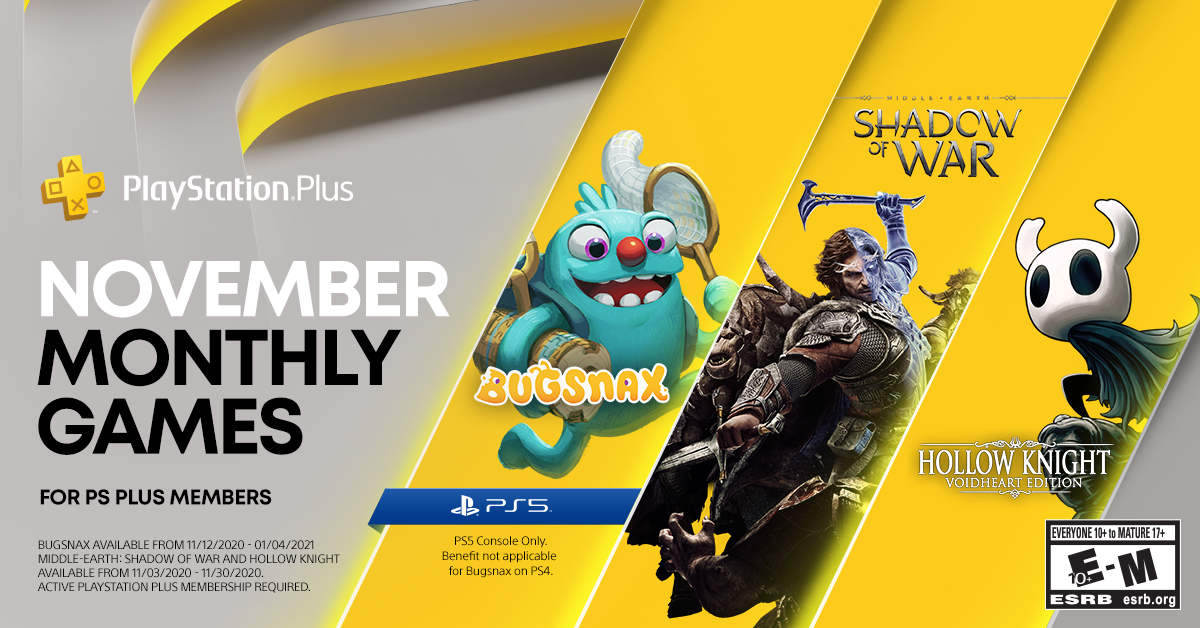 PS Plus Free Games November 2020