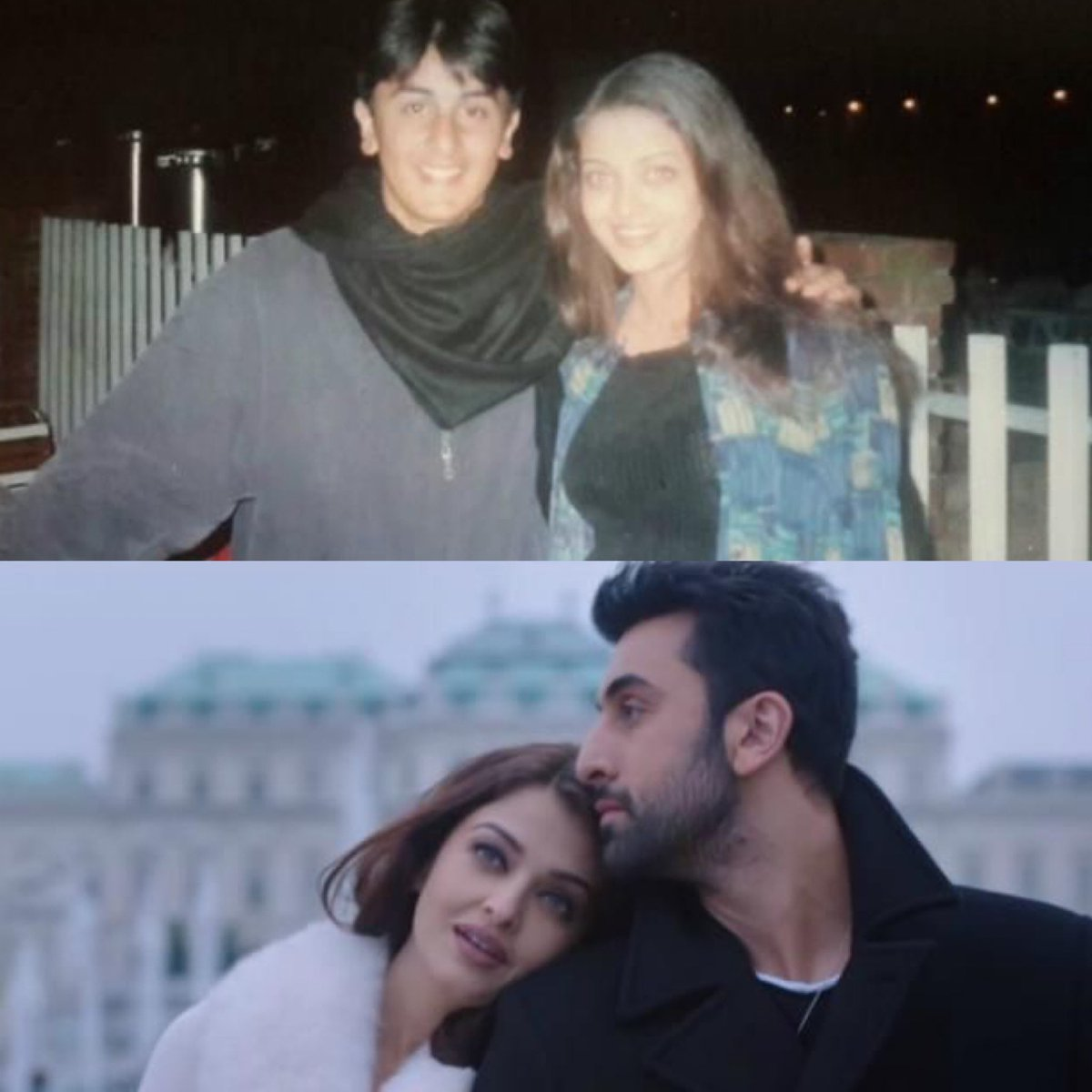Before and after! Here's a lovely throwback picture of #AishwaryaRaiBachchan and #RanbirKapoor before they paired up in #ADHM. #4YearsOfADHM https://t.co/awZ96LS7c5
