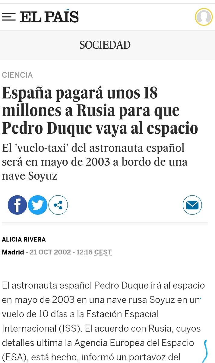 @Nmartinblanco Mejor gastar 18millones para enviar al primer español al espacio....y con el paso de los años meterlo a ministro....un plan sin fisuras https://t.co/ozmKuJgoHM