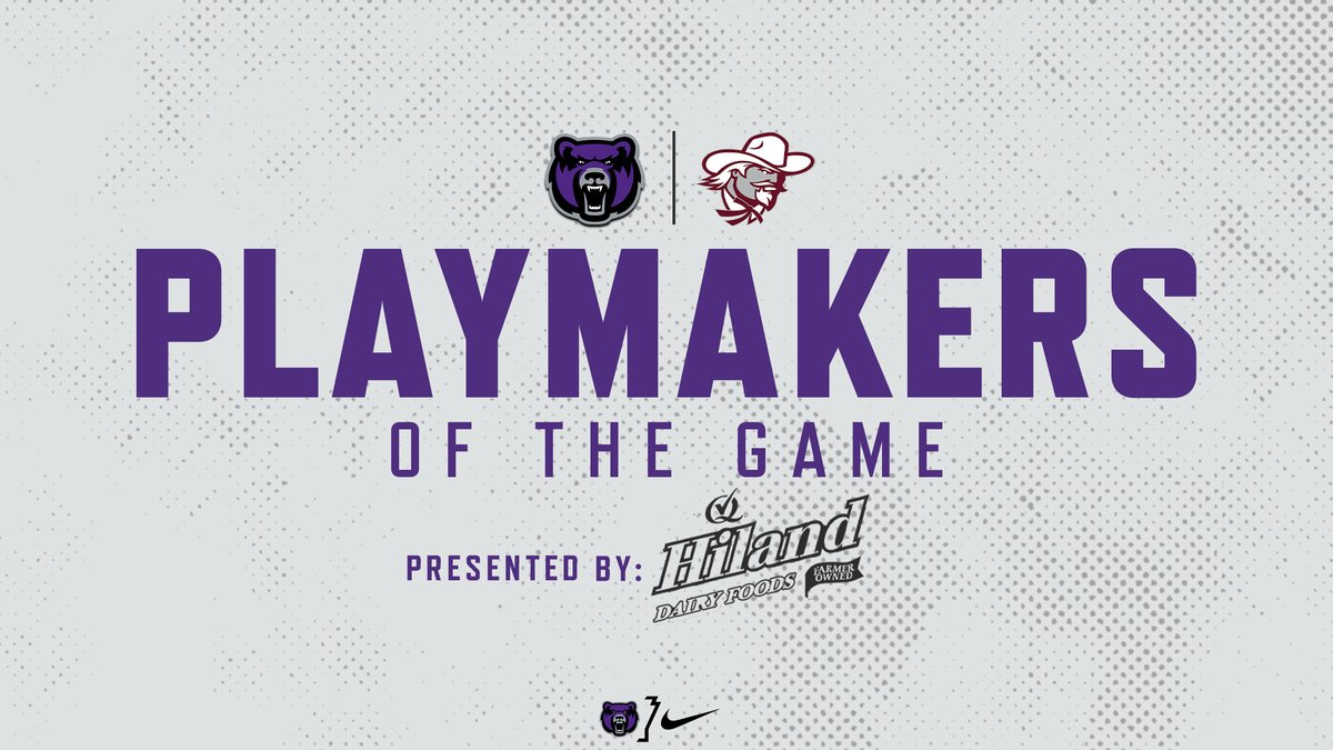 Here are this week's Playmakers of the Game vs Eastern Kentucky!  Highlights presented by @HilandDairy!   #WeAreOne #BearClawsUp https://t.co/jp7Pqv5I5y