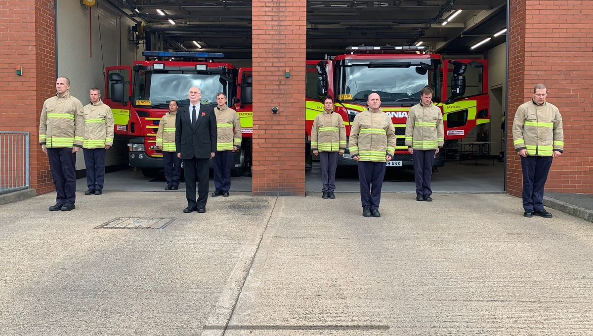 MINUTES SILENCE - Tribute to Chief Fire Officer Norman Dickerson - #weremember #easternstation