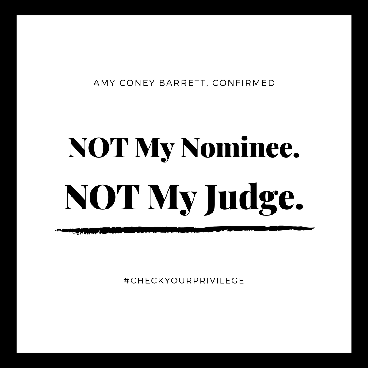 Since her nomination, Amy Coney Barrett has continually avoided answering questions about racism, police brutality, and abortion rights in detail if at all. This, justifiably, has me and many others worried about what this will mean for an already broken and racist system. https://t.co/TrmzaTU6xK