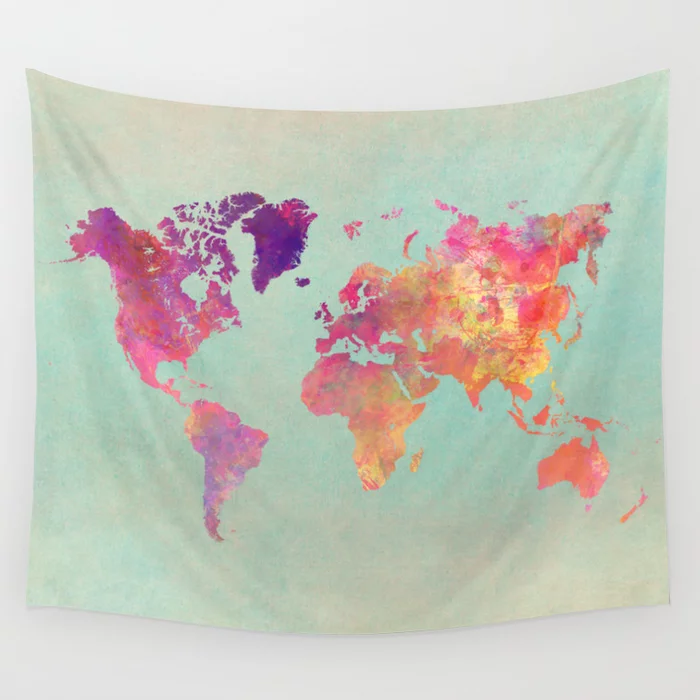 world map 102 #worldmap #map Wall Tapestry by jbjart | Society6 https://t.co/2oagDOqFeS https://t.co/rajrdlxi9G