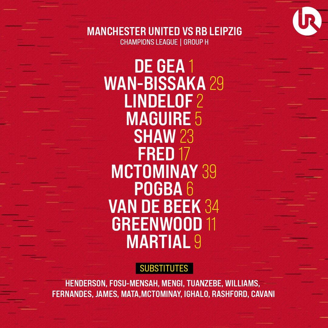 RT @utdreport: Donny van de Beek makes his first #UCL start for Manchester United https://t.co/exFIn9VPGG