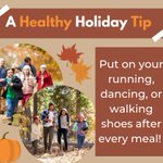 Image for the Tweet beginning: Another healthy holiday tip! After